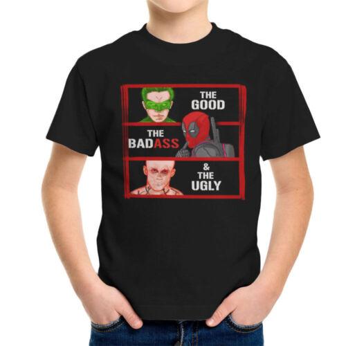 The good the bad fesses et The Ugly Green Lantern Deadpool KID/'S T-Shirt