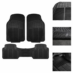 Universal Floor Mats For Car All Weather Heavy Duty 3pc