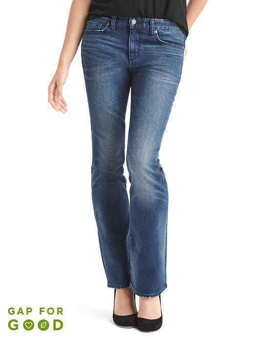 GAP Mid rise Perfect boot Jeans  bluee  Sz 33 S  16 Short MSRP 69.95 35% OFF