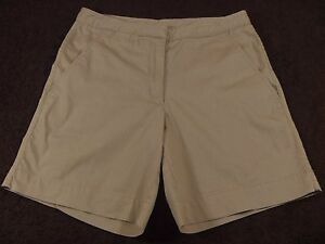 Women s NIKE Tan Shorts 29 Waist Flat Front Mid Rise Size 4 Small  a78f4787a