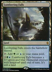 Lumbering-Falls-FOIL-NM-Battle-for-Zendikar-Magic-MTG
