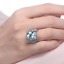 18ct-White-Gold-Magnificent-Natural-Aquamarine-and-Diamonds-Cocktail-Ring-VVS thumbnail 4