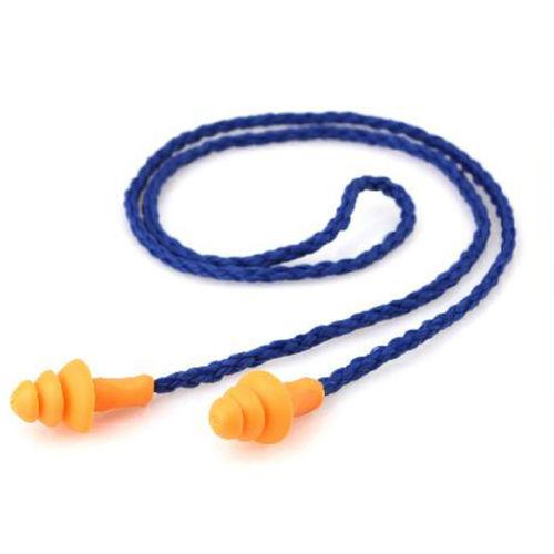 6X wiederverwendbare weiche Silikon-Kabel Ohrstöpsel Gehörschutz OhrstöpselWTDE
