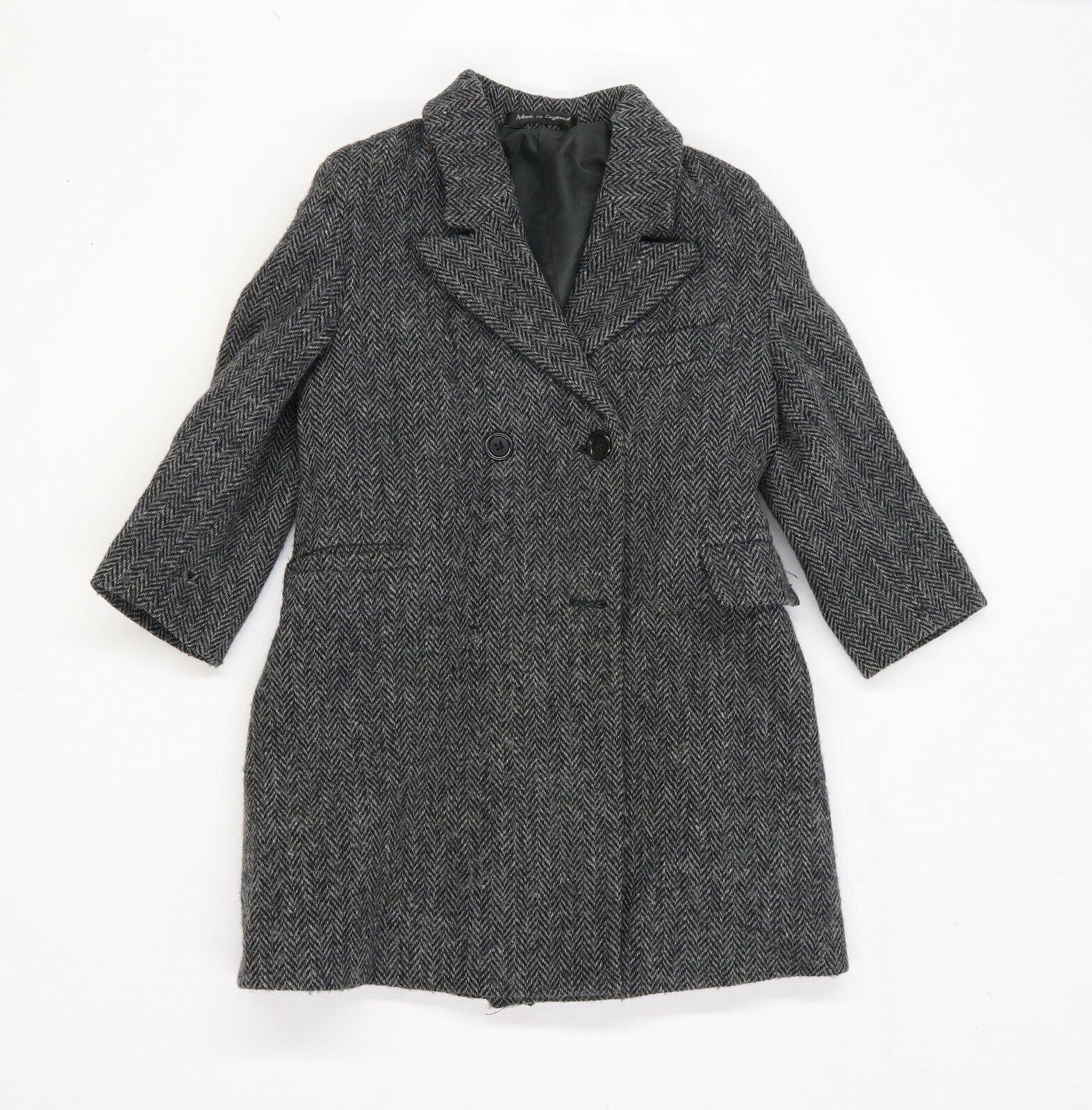 Preworn Womens Grey Overcoat Jacket Size 2