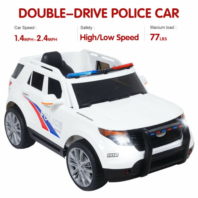 051664f1acf6 Frequently bought together. 12V Kids Ride on Toy Double-Drive Police Cars  w/ Siren Detachable ...