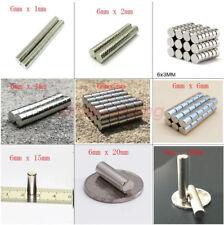 6 X 1 2 3 5 6 8 10 15 20 30mm Disc Long Cylinder Rare Earth Neodymium Magnet N50