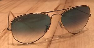 67238b6485d Image is loading RAY-BAN-AVIATOR-SUNGLASSES-LIGHT-BLUE-GRADIENT-LENS-