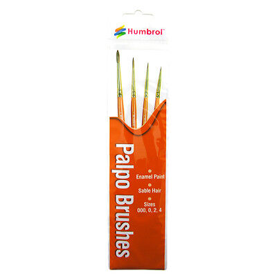 AG4250 Size 000//0//2//4 Humbrol Hornby Palpo Brush Pack