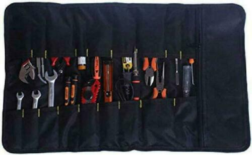 Multi-Purpose Tool Pouch 2 Pack Canvas Roll Up Tool Bags Set Heavy Duty Hangin