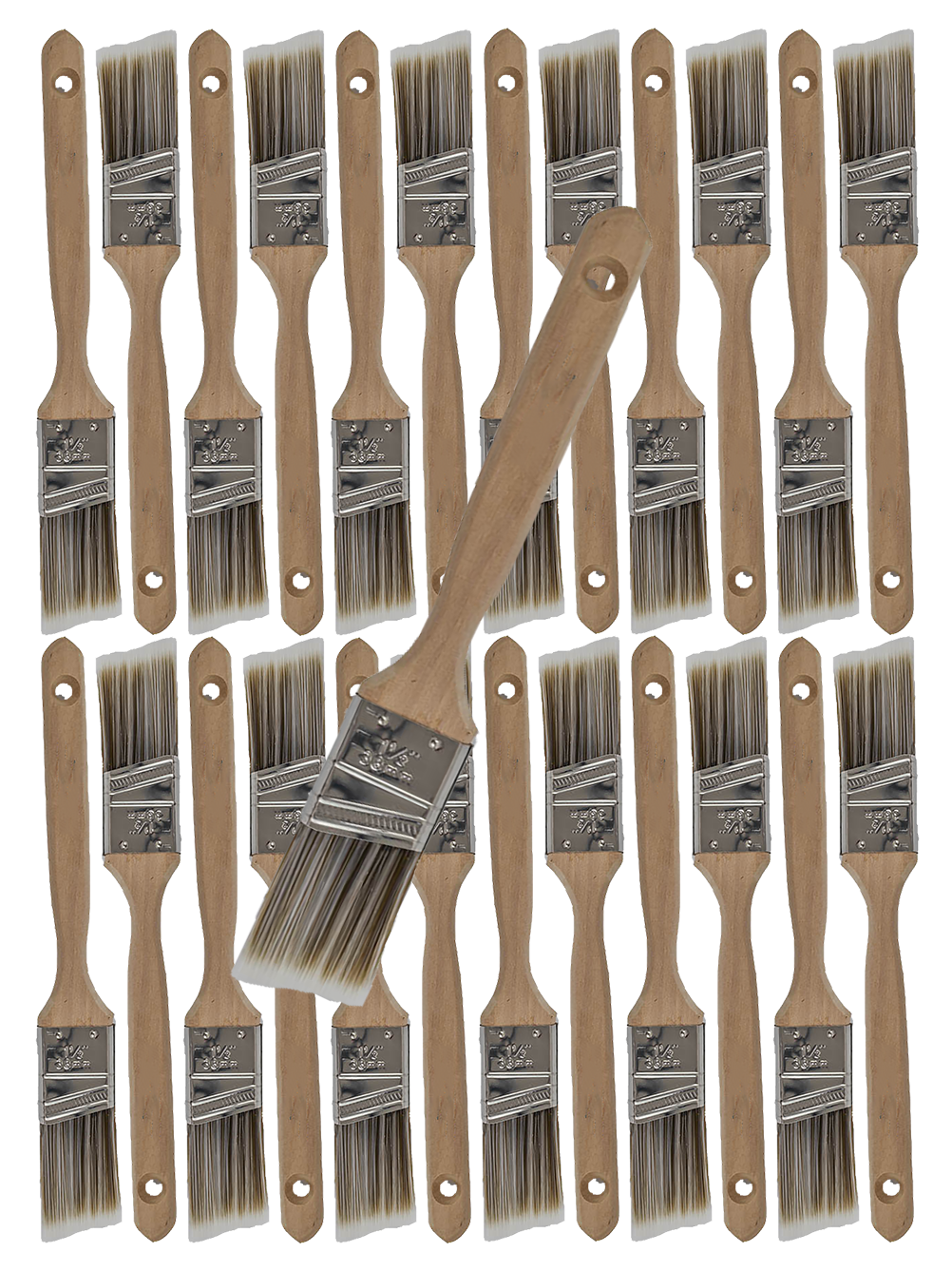 24PK 1.5 Angle House Wall,Trim Paint Brush Set Home Exterior or Interior Brushes