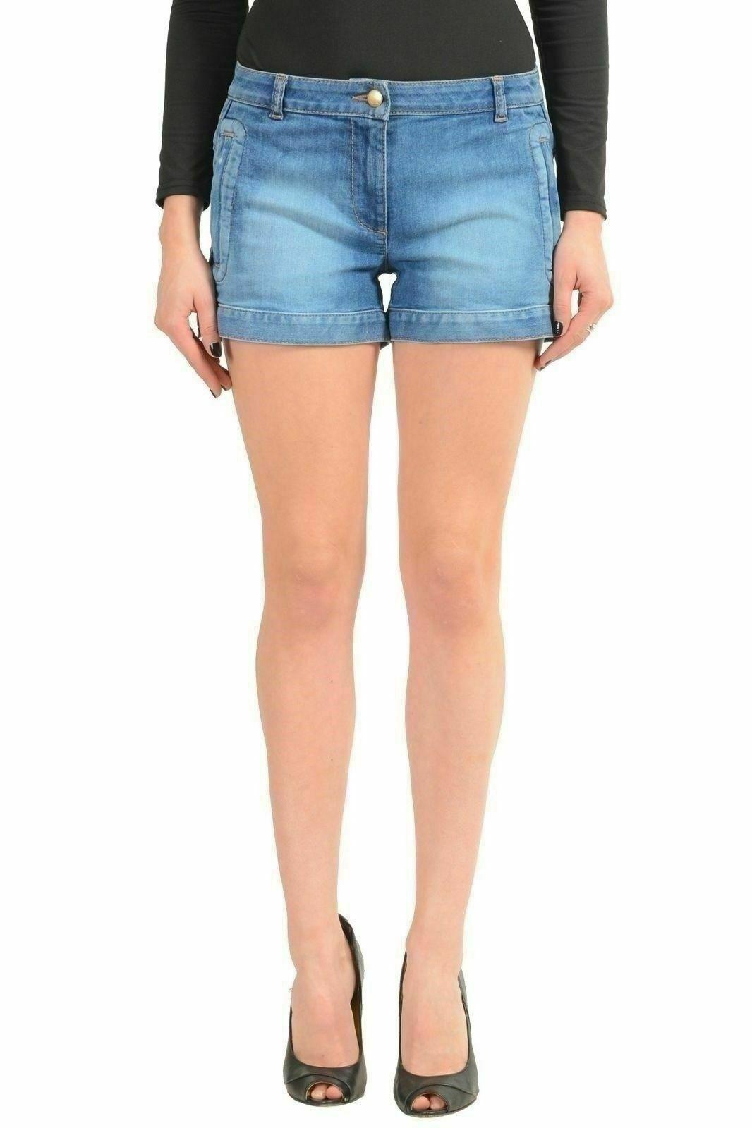 Just Cavalli bluee Denim Women's Casual Shorts US S IT 40