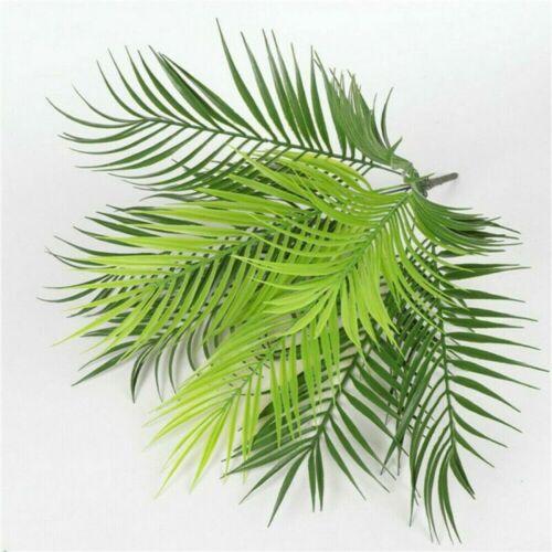 Palm Leaves Fern Bouquet Green Plastic Plants Garden Artificial Home Decor 9Head