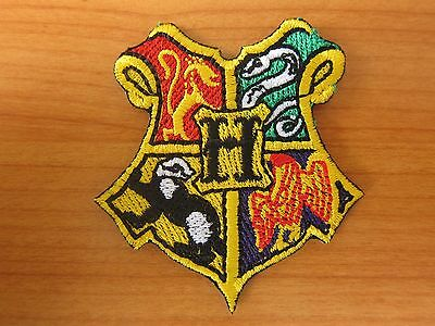 Harry Potter HOGWARTS SCHOOL embroidered Iron on Patch Badge High Quality Shirt
