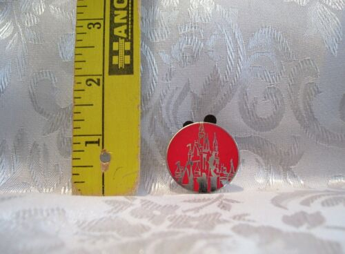 Walt Disney WORLD AND SILVER RED CASTLE ICON TRADING PIN