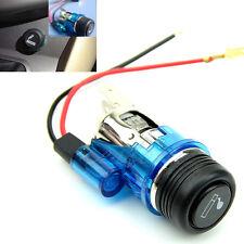 Blue 12V Waterproof Car Motorcycle Cigarette Lighter Power Socket Plug Outlet