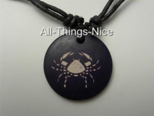 Zodiac Star CANCER Horoscope Unisex Adult Child 30mm Pendant Necklace Jewellery