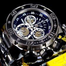 Invicta Reserve Subaqua Sea Dragon Swiss Black Chronograph Steel 52mm Watch New