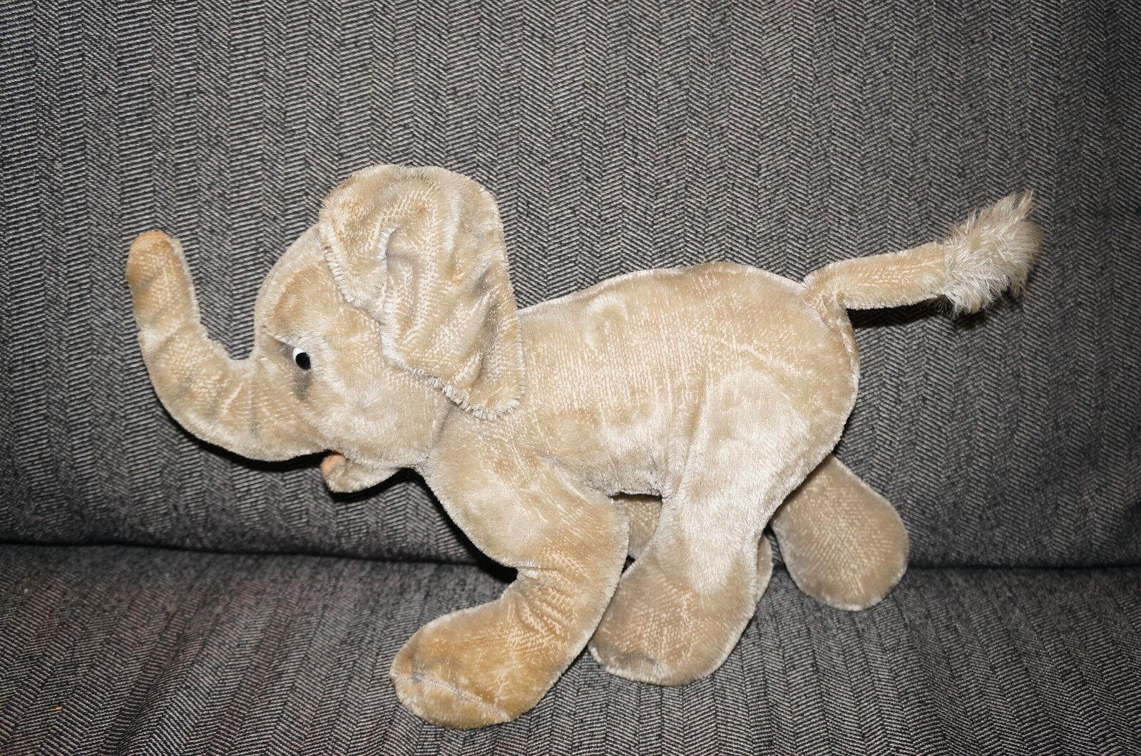 Antique STEIFF ELEPHANT MOHAIR Teddy Bear Plush Doll Germany NO BUTTON OR TAG