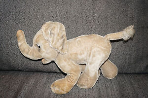 Antique-STEIFF-ELEPHANT-MOHAIR-Teddy-Bear-Plush-Doll-Germany-NO-BUTTON-OR-TAG