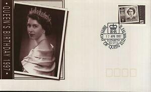 1997-FDC-Australia-Queen-039-s-Birthday-PictPMK-034-ELIZABETH-034