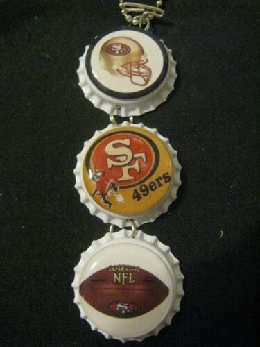 "1"" Bottle Cap Image Inside RView Mirror Handcrafted Gift Idea 49ers"
