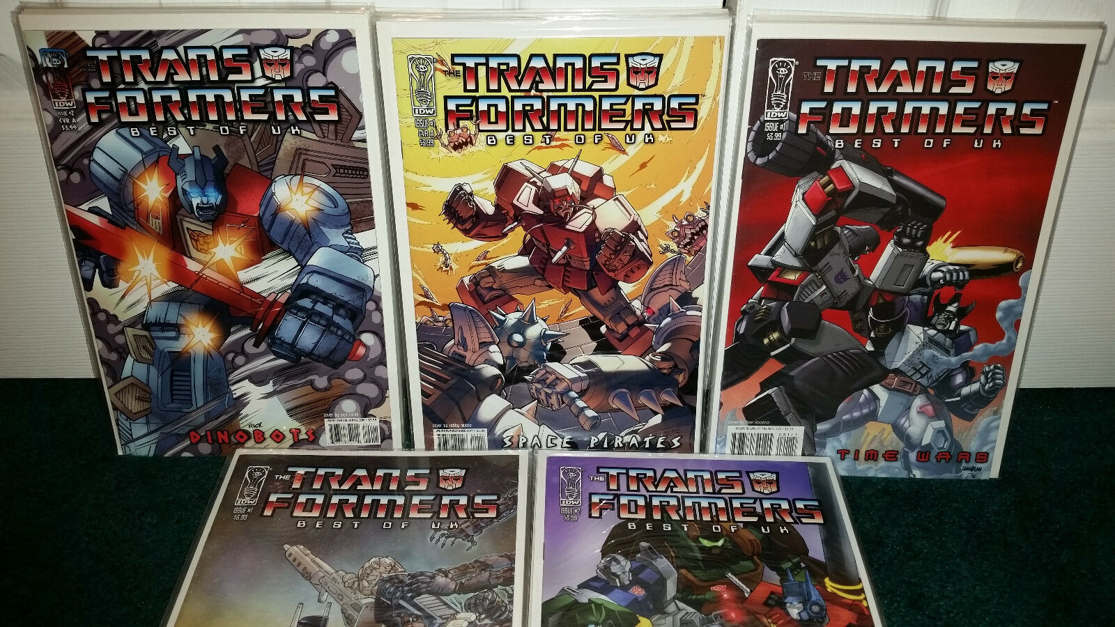 Transformers Best Of UK IDW Dinbots Space Pirates Time Wars City Of Fear Prey