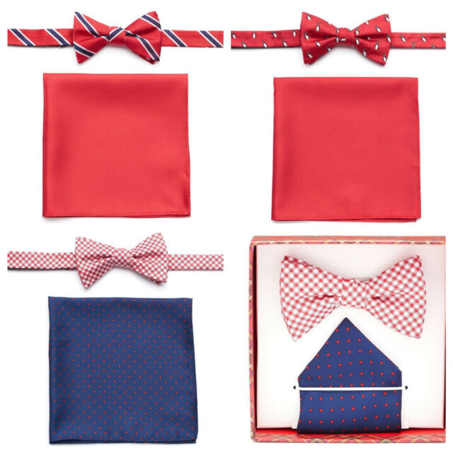 IZOD Men's Bow Tie and Pocket Square Set Your Pick Free S&H