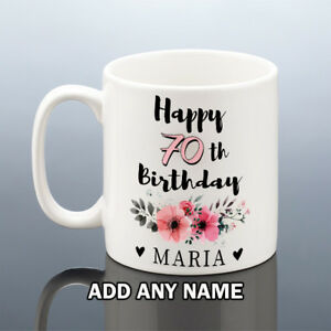 Details About 70th BIRTHDAY MUG 1949 Personalised Cup 70 Gift For Her Women Mum Nana Aunt Gran