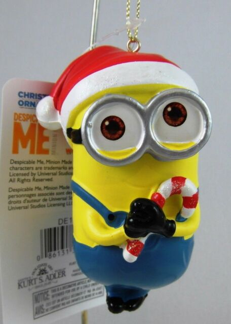 despicable me dave and carl with santa hats minions christmas ornament set of 2 - Christmas Minions