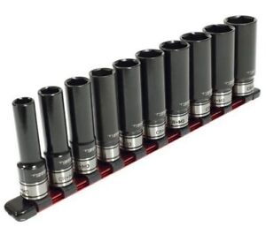 TTI-1-4-034-DRIVE-METRIC-IMPACT-SOCKET-SET-TT14D10ISSM-10Pcs-4-13mm-Polished-Finish