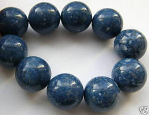 16 MM bleu Mousse corail boules strang u4-09.