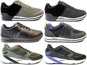 Sneakers-Uomo-S0497-Nero-e-Blu-Scarpa-Sportiva-Casual