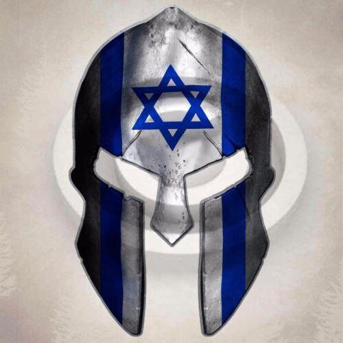 Israel Flag Spartan Helmet Sticker Israeli Star Decal
