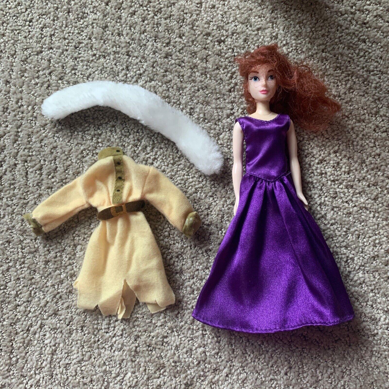 Anastasia Growing Hair Doll 20th Century Fox Purple Dress Peasant Outfit 1997
