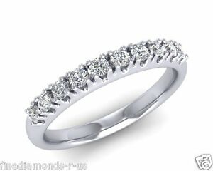 0.30carat Round Brilliant Cut Diamonds Half Eternity Wedding Ring in 9K Gold