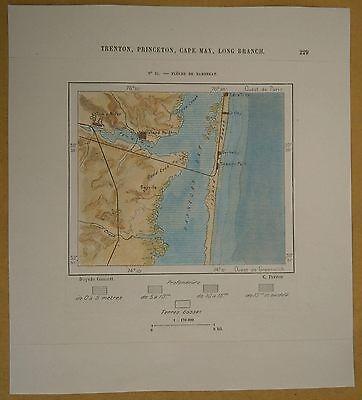 1892 Perron map BARNEGAT PENINSULA, JERSEY SHORE, NEW JERSEY (#51)