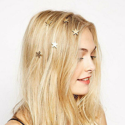 New Lovely Chic Women Lady Star Gold Swirl Spring Hair Clip Hairpin Gift