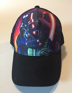 Star-Wars-Snapback-Trucker-Hat-Darth-Vader-Adjustable