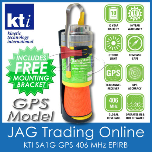 KTI SA3G EPIRB +GPS 406MHz SAFETY ALERT - Boat/Marine Emergency Distress Beacon
