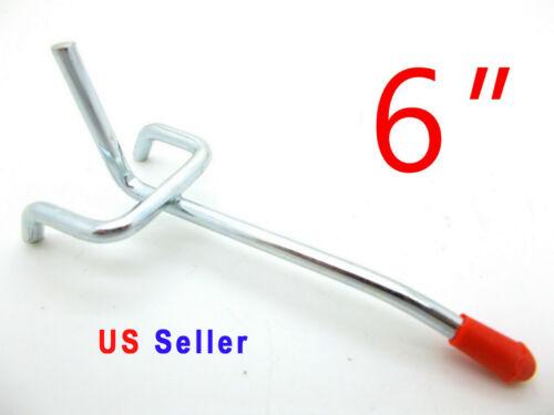 """Lot of 30 pc 6/"""" PEG BOARD HOOKS Shelf Hanger Kit Garage Storage Hanging 6/"""" x1//8"""
