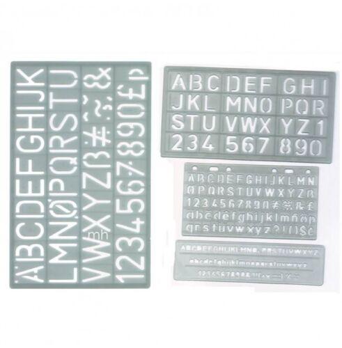 5mm 10mm 20mm /& 30mm SET 4 UPPER CASE ALPHABET /& NUMBER LETTERING STENCIL  CRAFT