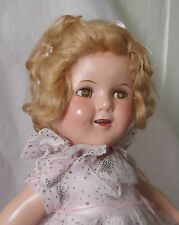 """Vintage 1930s 18"""" Composition Ideal Shirley Temple Doll Starburst Dancing Dress"""