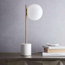 WEST ELM Sphere & Stem Chandelier BrassMilk Glass 6 Light