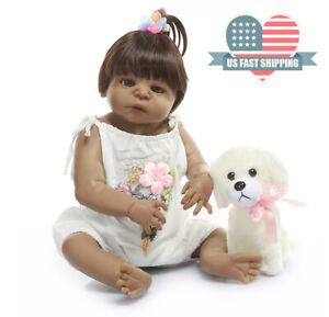 "Reborn Baby Dolls Anatomically Correct 22/"" Bathable Newborn Dolls Girl Silicone"