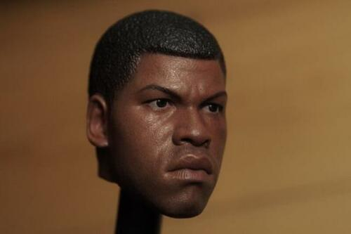 Custom 1//6 Finn John Boyega Head Sculpt For Hot Toys Star Wars Male Figure ❶USA❶