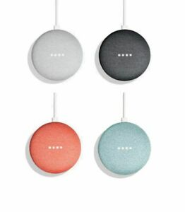New-Google-Home-Mini-Smart-Speaker-Color-Charcoal-Aqua-Coral-Chalk