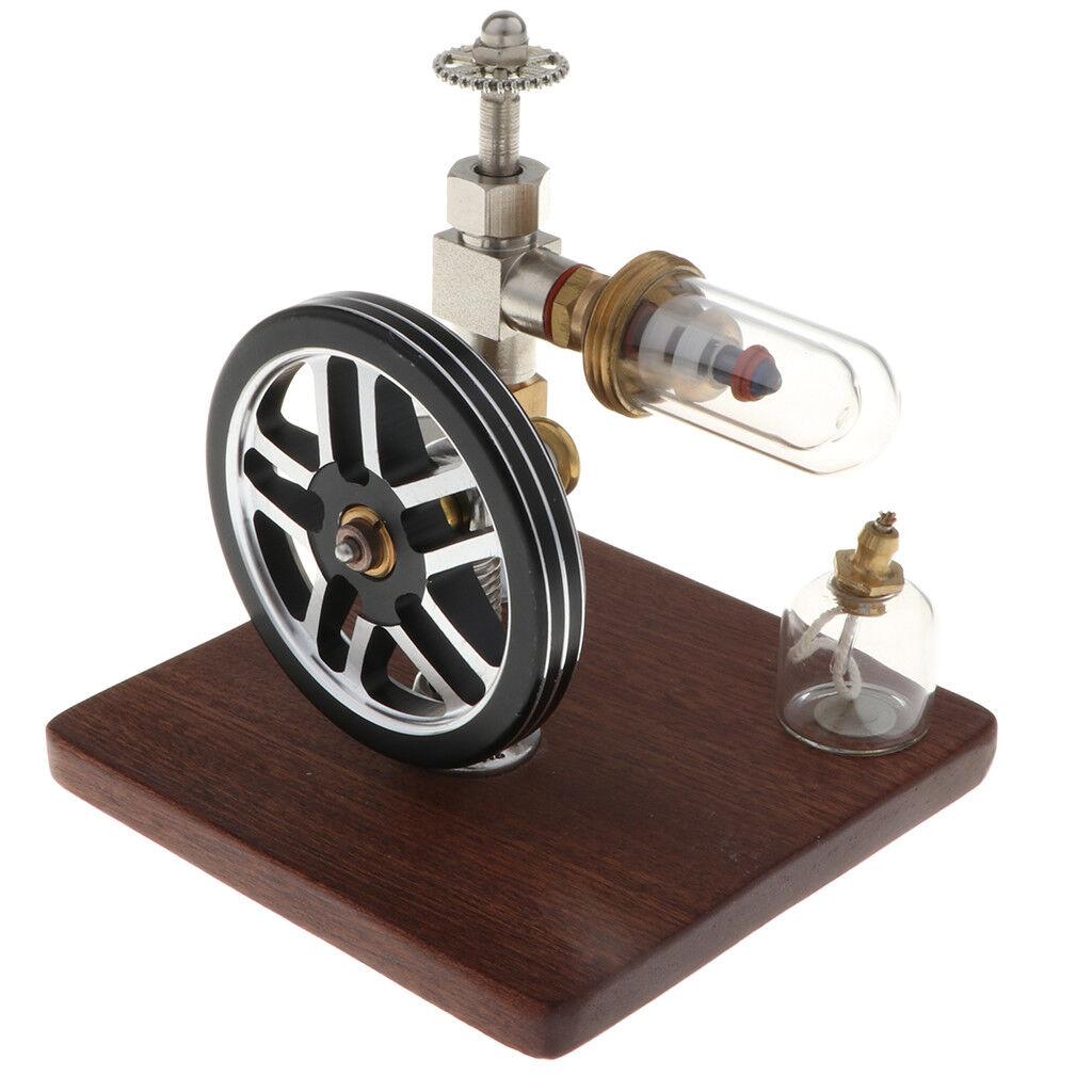 Free Piston Heat Power Stirling Engine Model Stirlingmotor Toy Wooden Base
