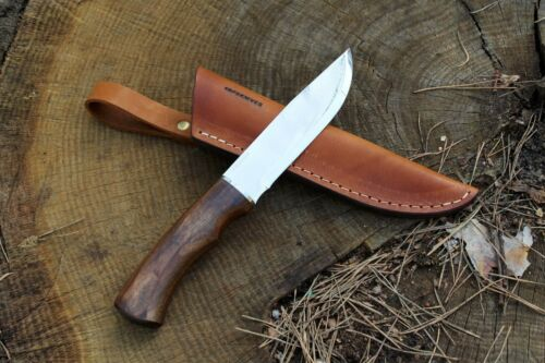 Large Bushcraft Fixed Blade Knives with Leather Sheath Camp Gear Scout Handmade