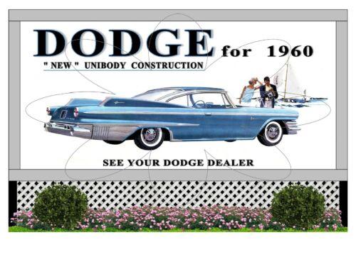 "1:43 SCALE 6/""X 4/"" BILLBOARD 1960 DODGE POLARA"