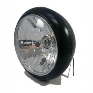 Phare-motorrad-ROAD-fixation-centrale-NOIR-200MM